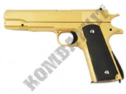 G13 Metal BB Gun 1911 Spring Airsoft Pistol 2 Tone Gold Black